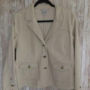 CAbi Cream Corduroy Jacket Sz.L